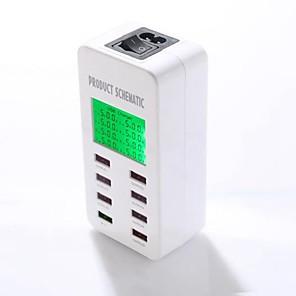 povoljno Ženski satovi-8a 40w usb punjač a8 8 stolni punjač LCD monitor / s prekidačima / pametnom identifikacijom nas utikač / eu utikač / uk adapter za punjenje