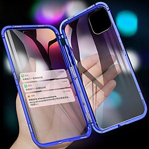 ieftine Carcase iPhone-carcasă telefonică din metal din sticlă temperată dublă magnetică pentru iPhone 11 11 pro 11 pro max xs max xr xs x 8 8 plus 7 7 plus