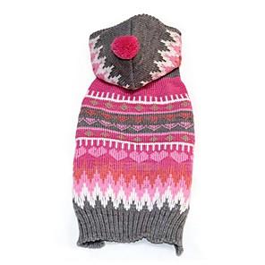 ieftine Imbracaminte & Accesorii Căței-Câini Pulovere Iarnă Îmbrăcăminte Câini Fucsia Costume Corgi Beagle Shiba Inu Fibră Acrilică Geometric Casul / Zilnic Încălziri XXS XS S M L