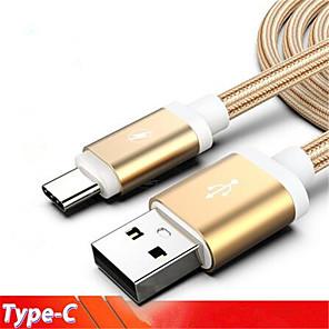 ieftine Cabluri & Adaptoare-2m usb tip c cablu usb c tip-c cablu de încărcare pentru samsung galaxy a3 a5 a7 2017 a8 a9 2018 nota 10 cabos