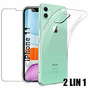 povoljno iPhone maske-2 lin 1 kućište za iphone 11 pro max zaštitno staklo za staklo iphone x xs max xr 7 8 6 6s plus zaštitno staklo