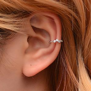 ieftine Cercei-Pentru femei Cătușe pentru urechi Crossover Fericit cercei Bijuterii Auriu / Argintiu Pentru Club