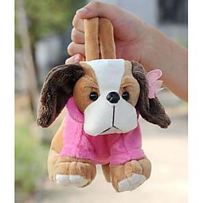 ieftine Păpuși-gri de design câine jucării de pluș sac de mână moale