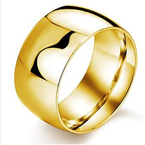 ieftine Inele-Bărbați Inel 1 buc Negru Gold-roșu Argintiu Oțel titan Rotund Modă Zilnic Festival Bijuterii Clasic Donuts Cool