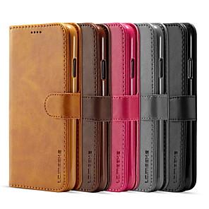 Недорогие Кейсы для iPhone-lc.imeeke кожаный чехол для apple iphone 11 pro / iphone 11 pro max / iphone xs кошелек / держатель для карт / флип-чехлы для всего тела однотонная искусственная кожа / тпу