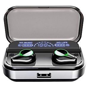 ieftine Cercei-litbest t10 tws adevărate căști wireless 2600mah ecran mobil led pentru smartphone bluetooth 5.0 cască stereo control tactil căști IPX7 impermeabil pentru apă
