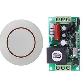ieftine Switch inteligent-receptor cod de învățare 1ch ac220v / pornire / oprire pornită fără comutator telecomanda rf cu releu 10a / 433mhz