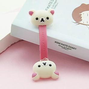 ieftine Organizatoare de Cablu-urs alb dimensiune mică / minunată formă de jucărie suport pentru cablu