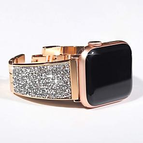 Недорогие Ремешки для Apple Watch-Роскошный бриллиантовый ремешок для яблочных часов серии 5/4/3/2/1 браслет ремешок bling чешский камень женщины леди ремешок для часов для ремешка iwatch 44мм / 40мм / 42мм / 38мм