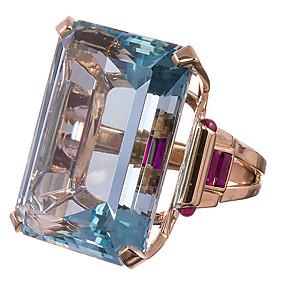 ieftine Inele-Pentru femei Inel 1 buc Auriu Diamante Artificiale Aliaj Pătrat Lux Clasic La modă Cadou Zilnic Bijuterii Clasic Norocos