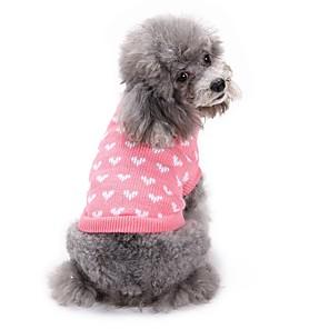 ieftine Imbracaminte & Accesorii Căței-Câini Pulovere Iarnă Îmbrăcăminte Câini Roz Costume Corgi Beagle Shiba Inu Fibră Acrilică Iubire Sweet Style Casul / Zilnic XS S M L XL XXL