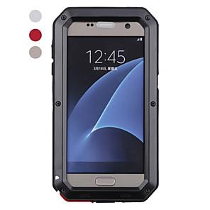 Недорогие Чехол Samsung-Кейс для Назначение SSamsung Galaxy S8 Plus / S8 / S7 edge Защита от удара / Защита от влаги Чехол Животное Твердый Металл