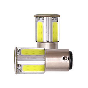 ieftine Car Signal Lights-s25 1156 ba15s 1157 bay15d cob led led semnal de virare alb roșu galben mașină led lumină inversă 2 buc