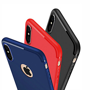 billiga Apple-fodral för apple iphone x xs / iphone xr / iphone xs max ultratunt bakomslag helt färgad mjuk tpu för iphone 7/8/6 plus