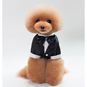 ieftine Îngrijire Unghii-Pisici Câine Costume Σμόκιν Iarnă Îmbrăcăminte Câini Negru Costume Husky Labrador Malamute de Alasca Bumbac Nod Papion Cosplay S M L XL XXL