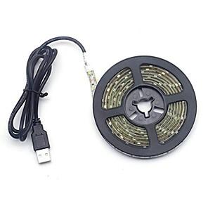 ieftine Benzi Lumină LED-0.5m Fâșii De Becuri LEd Flexibile Bare De Becuri LED Rigide Fâșii de Iluminat 30 LED-uri 2835 SMD 7mm 1 buc Alb Cald Alb Rece USB Decorativ Nuntă Alimentat USB