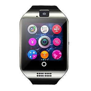 hesapli Akıllı Saatler-Q18 smart watch bt spor izci desteği bildirmek / nabız / eller serbest aramalar kamera ve sim-kart yuvası ile spor smartwatch uyumlu iphone / samsung / android telefonlar