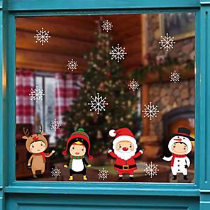 ieftine Tratamente de Fereastră-Crăciun drăguț film de fereastră de desene animate&autocolant ampampamp decorare animală / model de vacanță / caracter / geometric pvc (clorură de polivinil) autocolant fereastră
