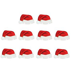 povoljno Ženski satovi-10pcs božićni ukrasi stol stol kartice božićni santa hat čaša vina