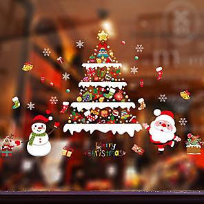 ieftine Tratamente de Fereastră-Fereastră de film și autocolante Decor Cu model / Crăciun Vacanță / Caracter PVC Autocolant Geam / Ușă autocolant / Încântător