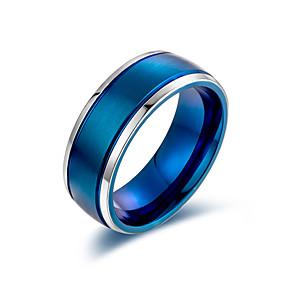 ieftine Inele-Bărbați Pentru femei Band Ring Inel 1 buc Negru Auriu Albastru Oțel titan Stilat De Bază Casual / sportiv Cadou Zilnic Bijuterii