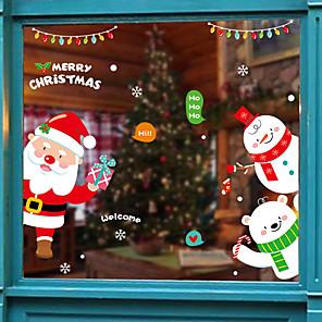 ieftine Tratamente de Fereastră-Cu model / Crăciun 45 cm 60 cm Autocolant Geam / Ușă autocolant Living / Camera de baie / Shop / Cafenea PVC