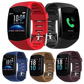 hesapli Küpeler-Q11 smart watch su geçirmez spor bilezik büyük basın ekran mesajı nabız hatırlatmak zaman smartband aktivite tracker bileklik