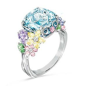 ieftine Inele-Pentru femei Inel Zirconiu Cubic 1 buc Argintiu Placat cu platină Dulce Zilnic Bijuterii