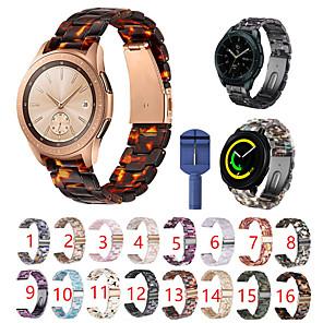 Недорогие Часы для Samsung-для samsung galaxy watch active 2 / активный / 42мм / gear sport / s2 classic ремешок из полимерной смолы с застежкой-бабочкой и ремешком