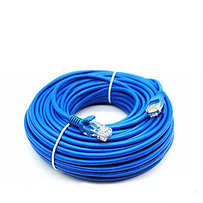 ieftine Cabluri Ethernet-50 de metri rj-45 albastru ethernet albastru internet lan cat5e cablu de rețea pentru router modem computer
