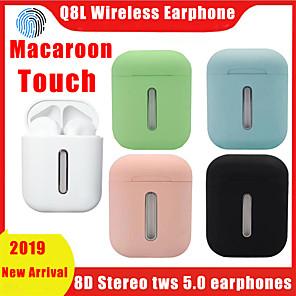 povoljno Pravi bežični uš-macaroom q8l bluetooth 5,0 tws slušalice touch touch slušalice pop-up 8d stereo bežične slušalice sa šarenim svjetlom koje diše