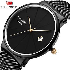 ieftine Ceasuri Bărbați-Bărbați Ceas Elegant Quartz Stil Oficial Stil modern 30 m Rezistent la Apă Ceas Casual Mare Dial Analog Clasic Modă - Negru Auriu Albastru piscină
