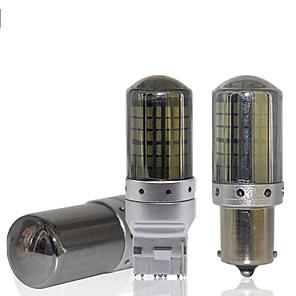 hesapli Gündüz Yanan Işıklar-2 adet canbus t20 led 7440 w21w 1156 p21w led ba15s py21w bau15s 144smd araba led ampuller için lamba dönüş sinyali ışık fren lambası hiçbir hata