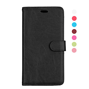 Недорогие Чехлы и кейсы для Galaxy A7-Кейс для Назначение SSamsung Galaxy S9 / S9 Plus / S8 Plus Магнитный / Авто Режим сна / Пробуждение Чехол Однотонный Кожа PU / ТПУ