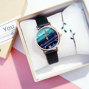 저렴한 여성 디지털 시계-여성용 석영 클래식 캐쥬얼 블랙 브라운 그레이 합금 중국어 석영 블랙 블러슁 핑크 푸른 크로노그래프 야광의 뉴 디자인 30 m 2 개 아날로그 2 년 배터리 수명
