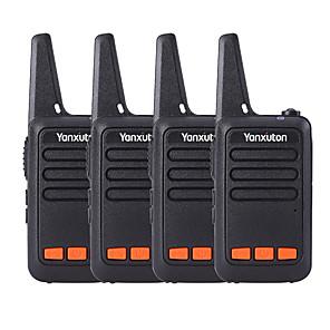 ieftine Walkie Talkies-Părinți-copii în aer liber auto-conduce mini-mini-walkie-talkie ultra-subțire disponibil pentru ktv 4 pirces