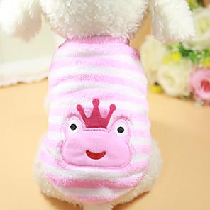 ieftine Imbracaminte & Accesorii Căței-Câine Pulovere Iarnă Îmbrăcăminte Câini Roz Costume Terilenă Bumbac S M L