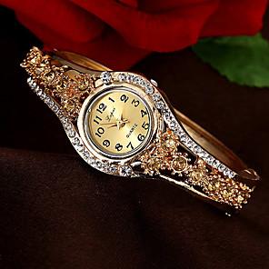 ieftine Inel Ceas-Pentru femei Ceas Brățară Quartz Stil Vintage Stl Lux Ceas Casual Analog Alb Mov Roz / Un an / imitație de diamant / Un an