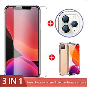 ieftine Benzi Lumină LED-Geam de cameră 3-în-1 pentru iphone 11 pro max protector de ecran iphone xr lentilă de sticlă pe iphone 11 pro max protecție de sticlă