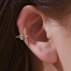 hesapli Küpeler-Kadın's Kulak Manşetleri Klasik Kuş Koreli Moda Modern sevimli Stil Küpeler Mücevher Siyah / Altın / Gümüş Uyumluluk Günlük Cadde Tatil Çalışma 1pc