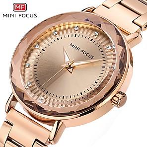 ieftine Ceasuri Damă-MINI FOCUS Pentru femei Ceas Elegant Quartz Stil Oficial Stil modern Argint / Gri / Auriu 30 m Rezistent la Apă Creative Model nou Analog Clasic Modă - Roz auriu Auriu Gri