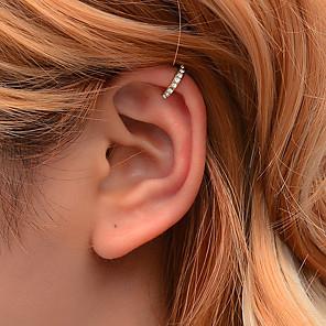 ieftine Cercei-Pentru femei Cătușe pentru urechi briolette Σταυρός cercei Bijuterii Auriu / Argintiu Pentru Festival
