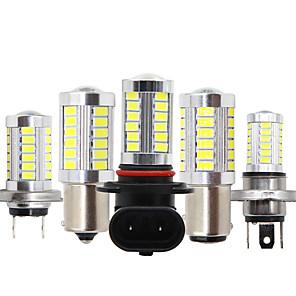 ieftine Becuri De Mașină LED-2 buc autoturism h8 h11 led 9005 hb3 9006 hb4 h4 h7 p13w h16 5630 33smd lampă de ceață care funcționează în timpul zilei bec aprinderea becului de parcare 12v