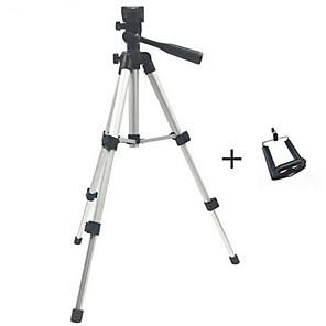 ieftine Stick Tripod Selfie-Suport de trepied pliabil profesional pentru camera foto pliabilă șurub stabilizator de trepied cu cap de fluid de 360 de grade cu suport pentru telefon
