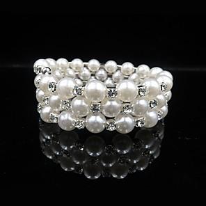 ieftine Brățări-Pentru femei Brățară Dublu Stratificat Minge Stilat Clasic Imitație de Perle Bijuterii brățară Alb Pentru Zilnic Festival / Diamante Artificiale