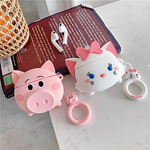 ieftine Mănuși & Mănuși 1 deget-Căști pentru căști pentru airpods 3d desen animat drăguț pentru porci de pisică pentru păstăi cu aer protejează capac pentru cască pentru cască