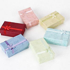 ieftine Cutie de bijuterii și afișaj-Dreptunghi Cutii de Bijuterii - Simplu Aqua, Cearceaf, Roșu 8 cm 5 cm 2.5 cm