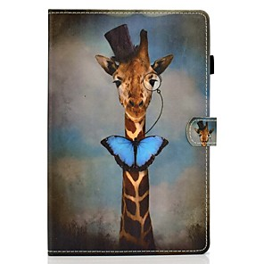 ieftine Carcase iPad-Maska Pentru Apple iPad Air / iPad 4/3/2 / iPad (2018) Titluar Card / Cu Stand / Model Carcasă Telefon Animal PU piele / TPU