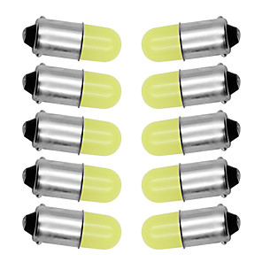 ieftine Car Signal Lights-10 buc ba9s t4w 363 1895 233 super strălucitor rotund 3d cob led pur alb auto placă de înmatriculare bec bec lampă auto marker lumină dc 12v