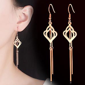 ieftine Cercei-Pentru femei Cercei Picătură Franjuri Vertical La modă Modă cercei Bijuterii Auriu / Argintiu Pentru Petrecere Cadou Zilnic 1 Pair